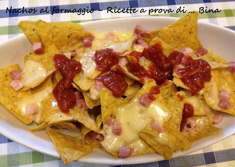 Ricetta Nachos Con Formaggio E Fagioli.Nachos Al Formaggio Ricetta Tex Mex Ricette A Prova Di Bina Ricette Idee Alimentari Cibo