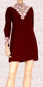 red velvet mini dress 1435042510 1960s in fashion