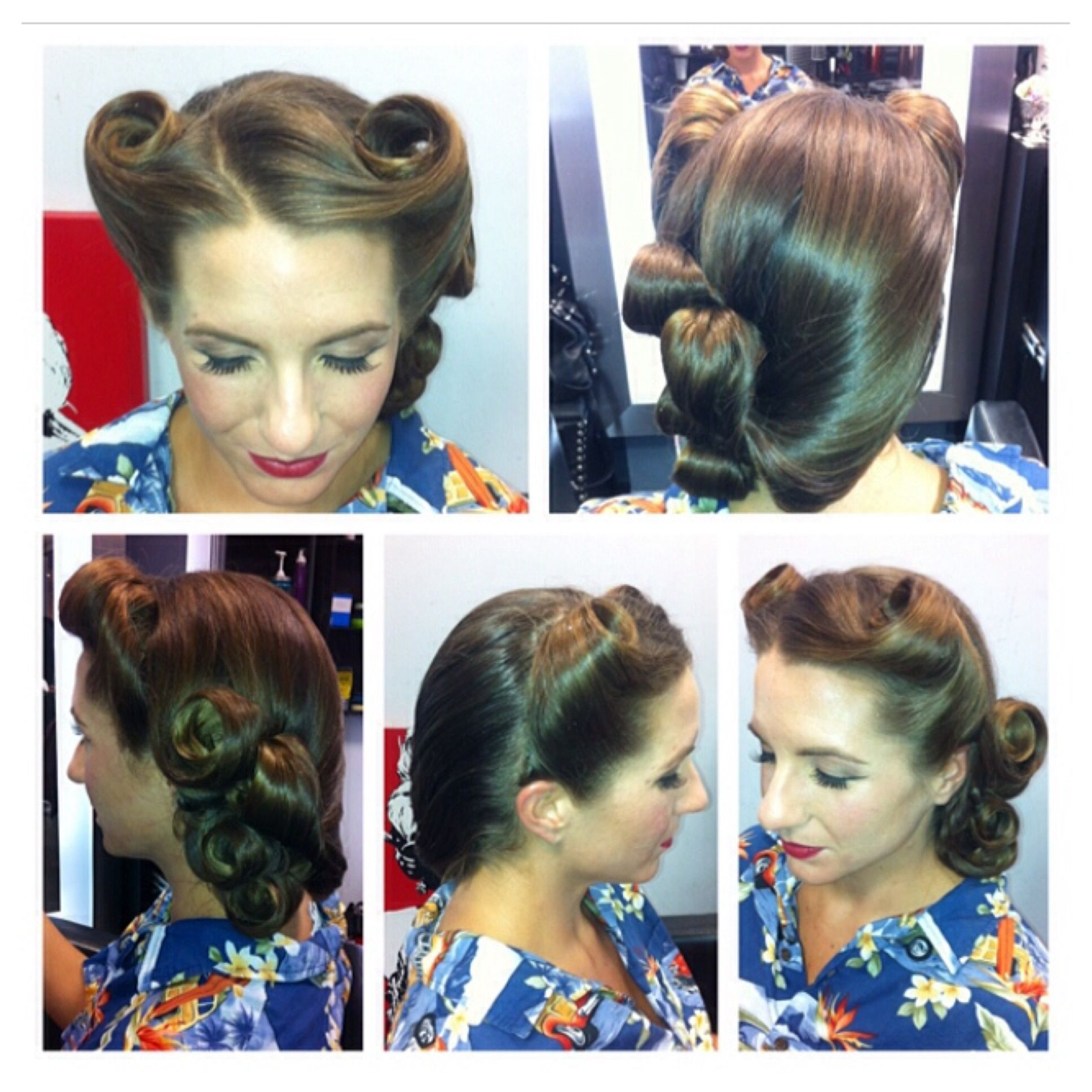 vintage hairstyle vintage updo restro hairstyle 50s hair