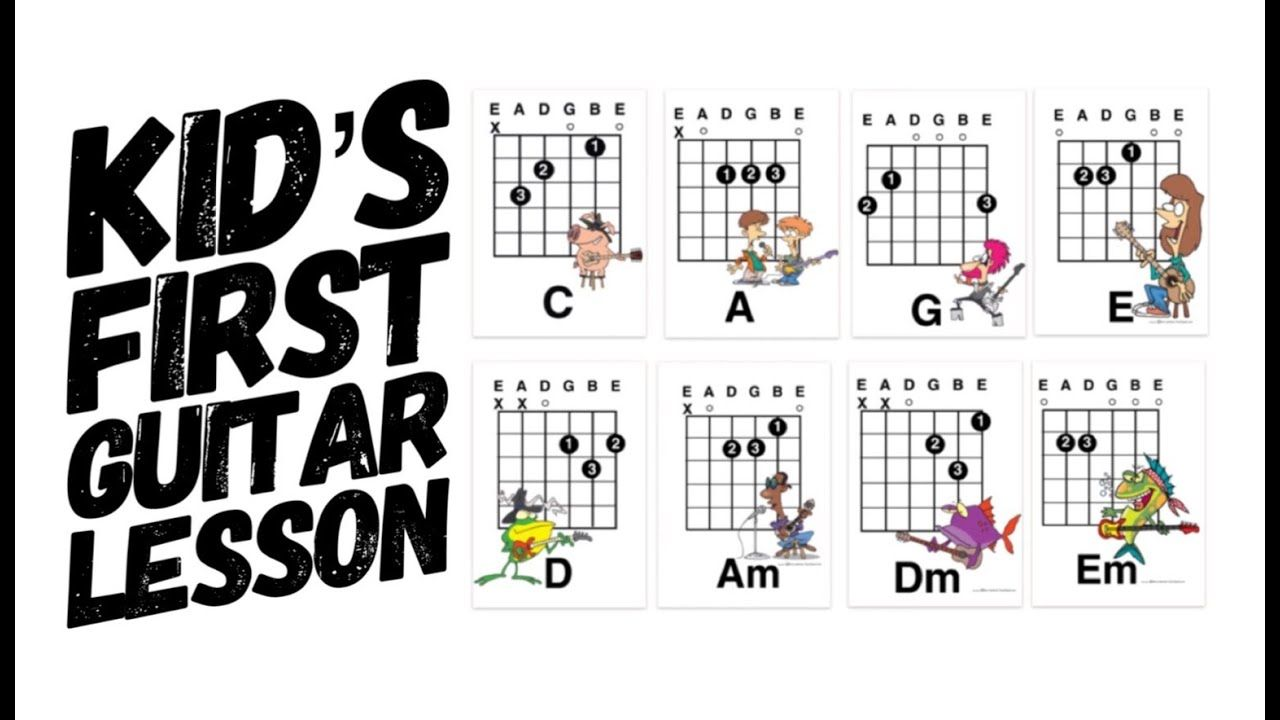 Easy Kids First Guitar Lesson: G and Em
