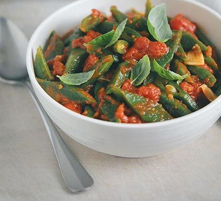 Runner beans with tomato garlic chilli recipe recipes bbc runner beans with tomato garlic chilli recipe recipes bbc good food forumfinder Image collections