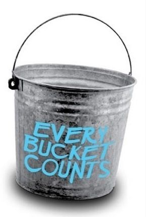 Every bucket does count...