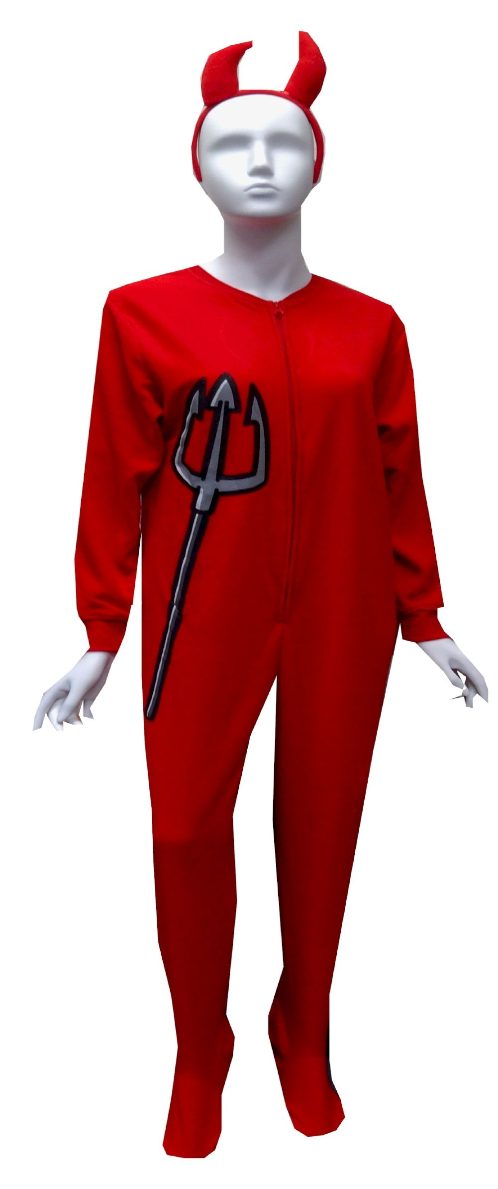 7d5ffc8dd3 Red Devil Onesie Footie Pajama Feeling a little naughty  These footed onesie  pajamas for women are designed to look like a devil