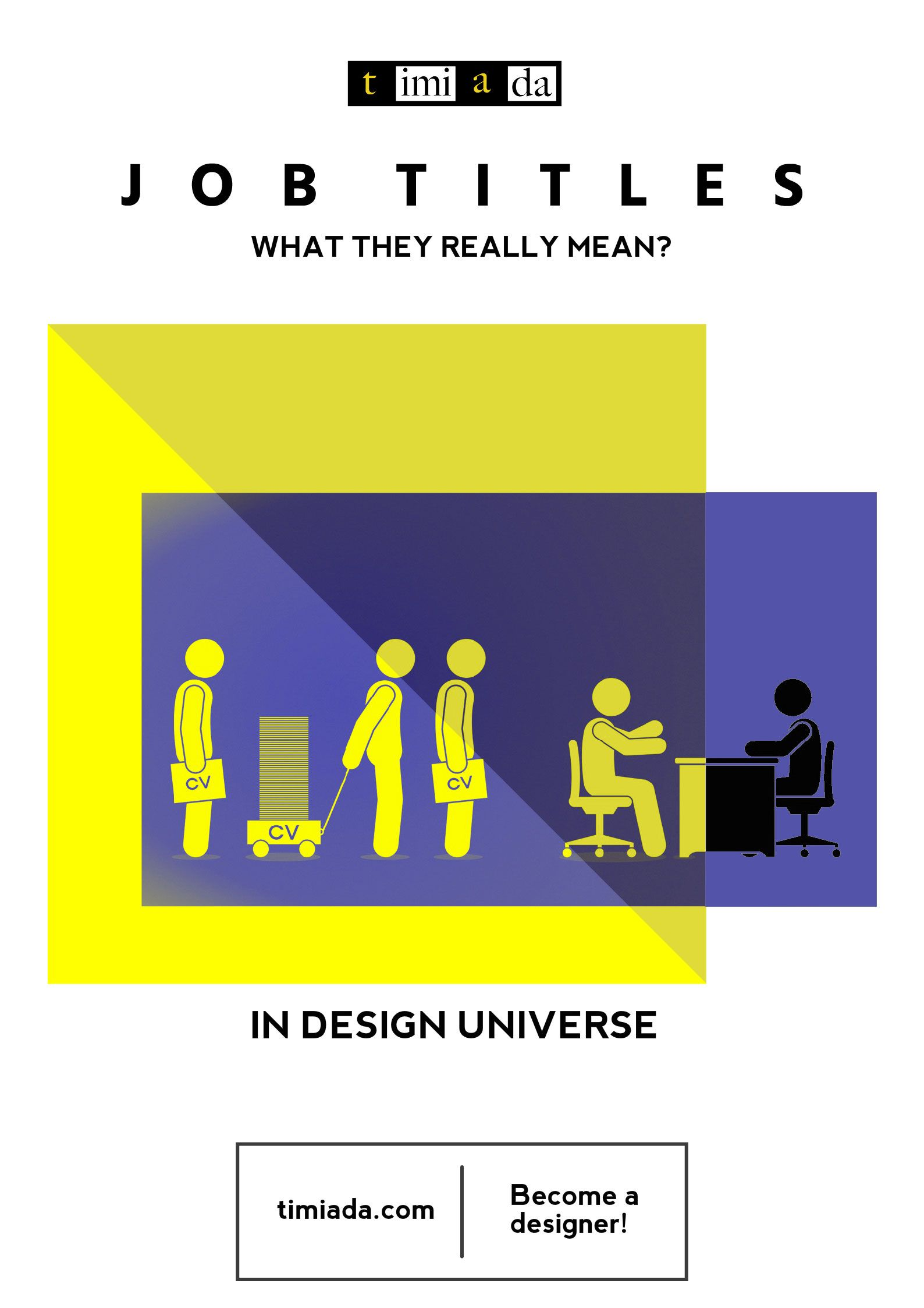 Job Titles and what they really mean in design Universe