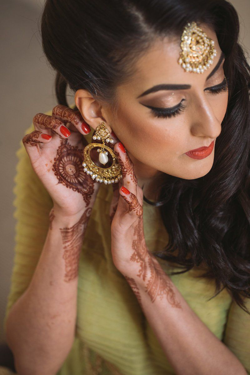 Gold Hair Accessories And Earrings