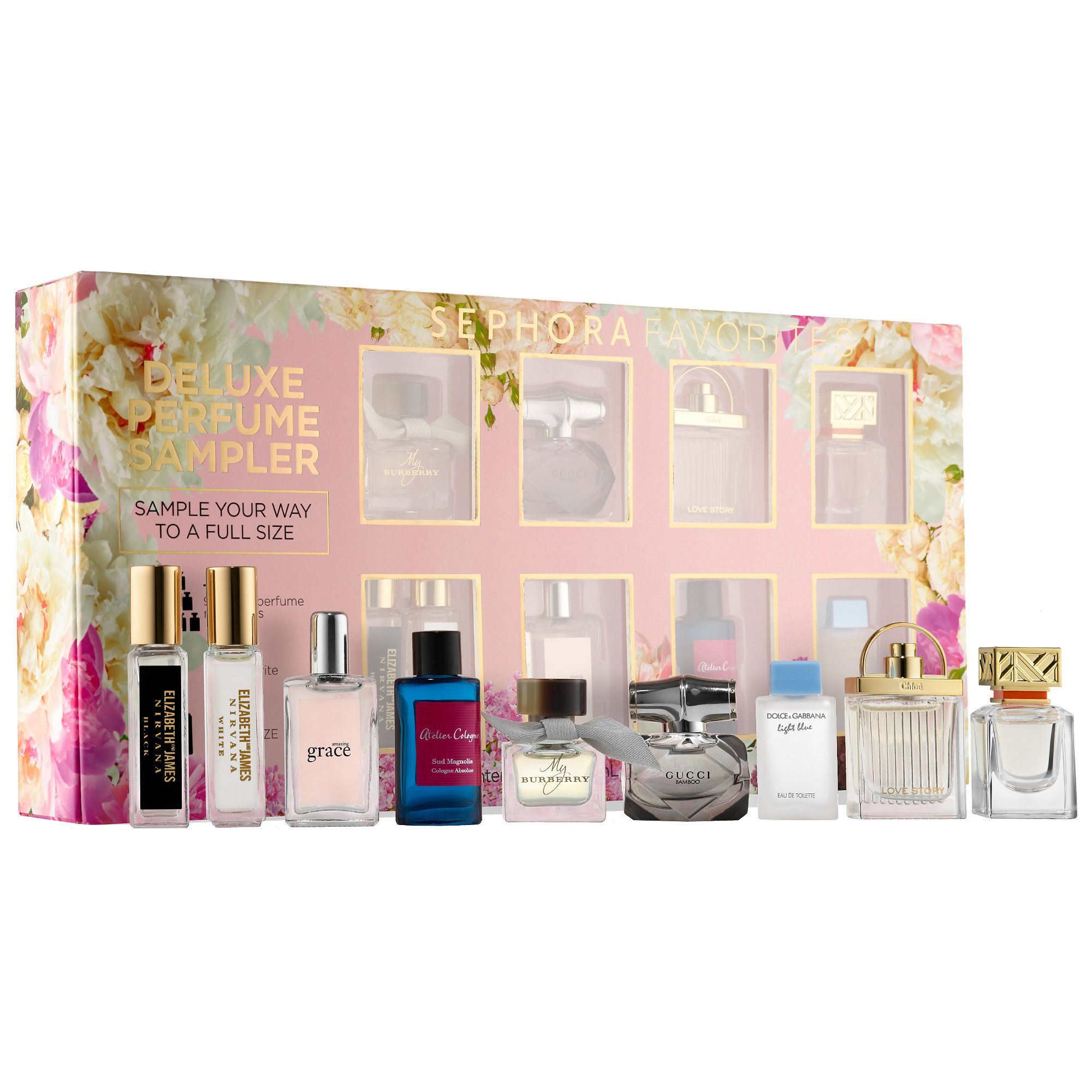 ea00f5814c91 Shop Sephora Favorites  Deluxe Perfume Sampler at Sephora. This box of nine fragrance  samples has a certificate for a full-size of your favorite.