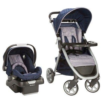 Eddie Bauer Gray Blue Plaid Baby Stroller Plaid Baby Blue Plaid