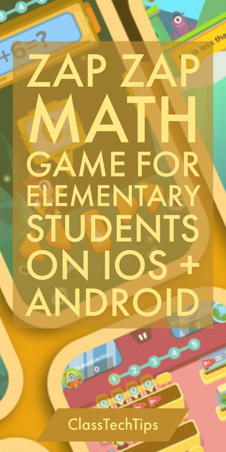 Zap Zap Math Game for Elementary Students on iOS + Android | Math ...
