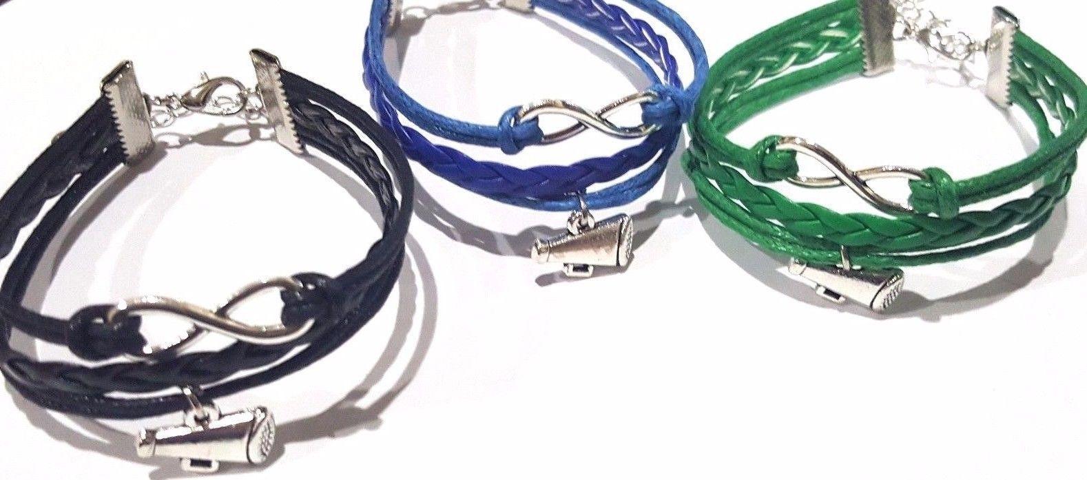 Infinity love #bracelet w megaphone #charm  / #cheerleader #cheer,  View more on the LINK: http://www.zeppy.io/product/gb/2/252319583723/