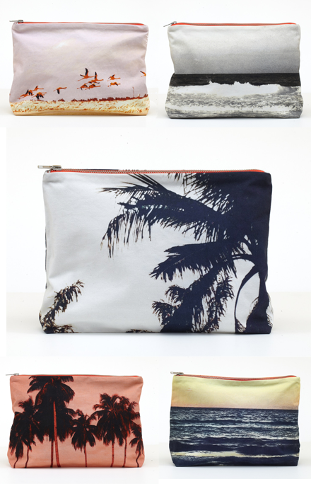Down and Out Chic: Landscape Pouches. Sara Beltran at Shop Dezso