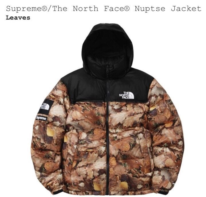 Supreme X The North Face Tnf Nuptse Leaves Jacket Size Xl Extra Large Confirmed