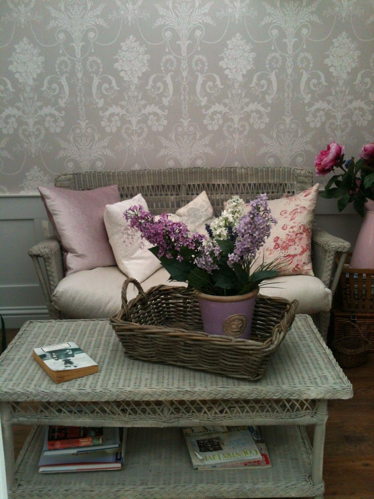 Laura Ashley Josette Dove Grey Wallpaper My Love Of Wicker In