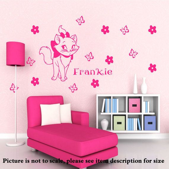 Disney Marie The Cat Vinyl Wall Stickers Personalized Name Decal - Custom vinyl wall decals cats