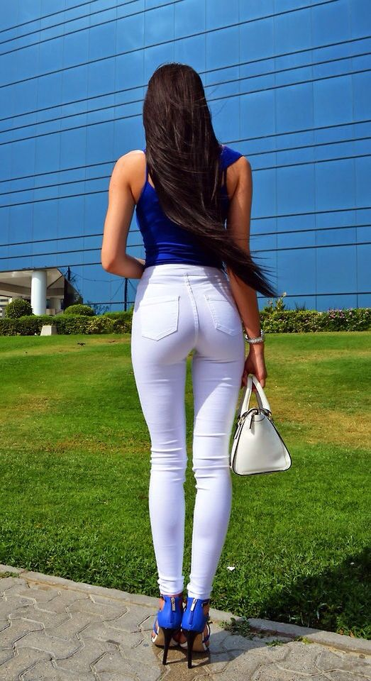 White Spandex Ass