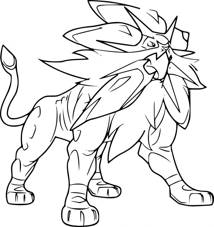 Coloriage Solgaleo Pokemon Crafts Coloring Pgs