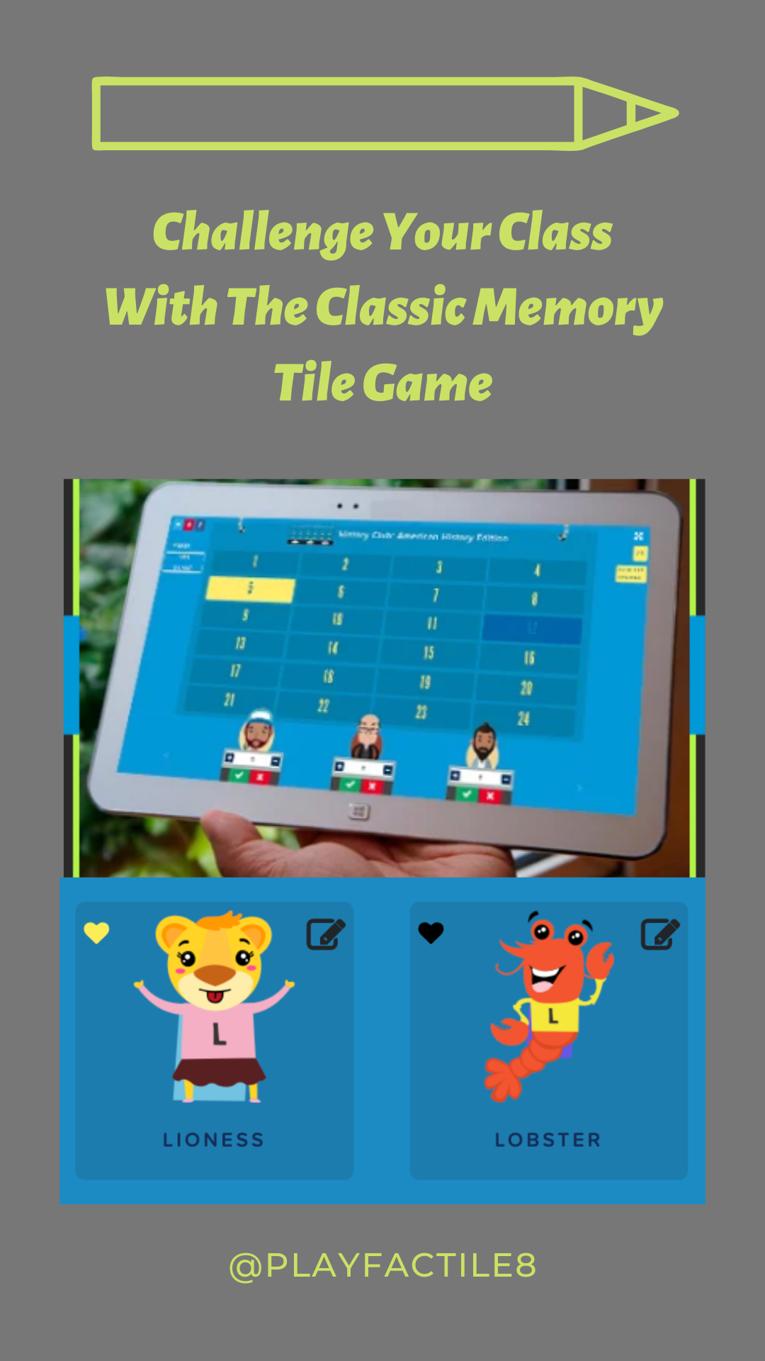 Challenge Your Class With The Classic Memory Tile Game in