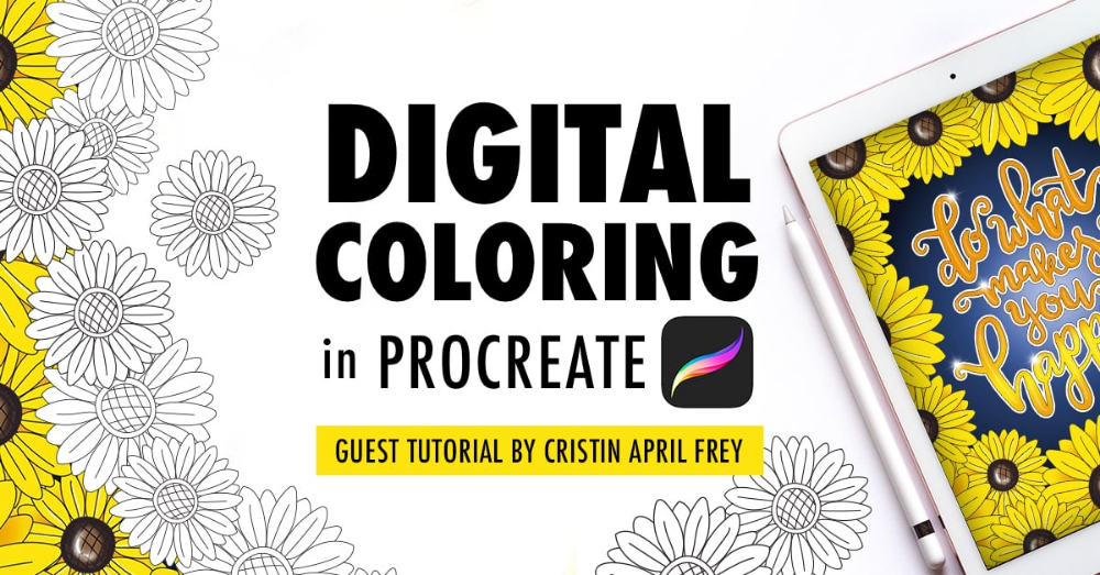 Digital Coloring In The Procreate App Adult Coloring Tutorial Coloring Tutorial Adult Coloring Colors For Skin Tone