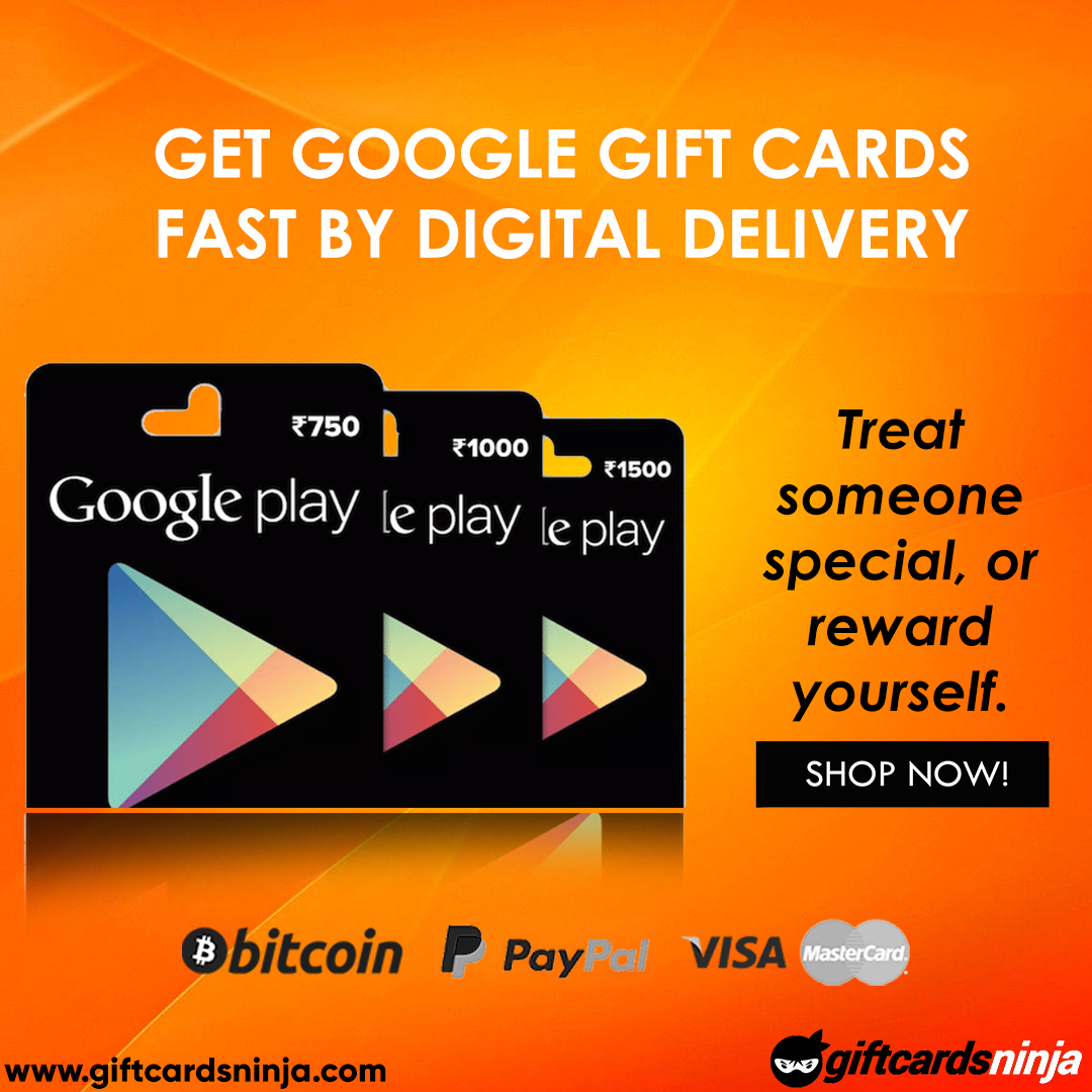 Buy Google Play Gift Card from GiftcardsNinja & download apps, songs
