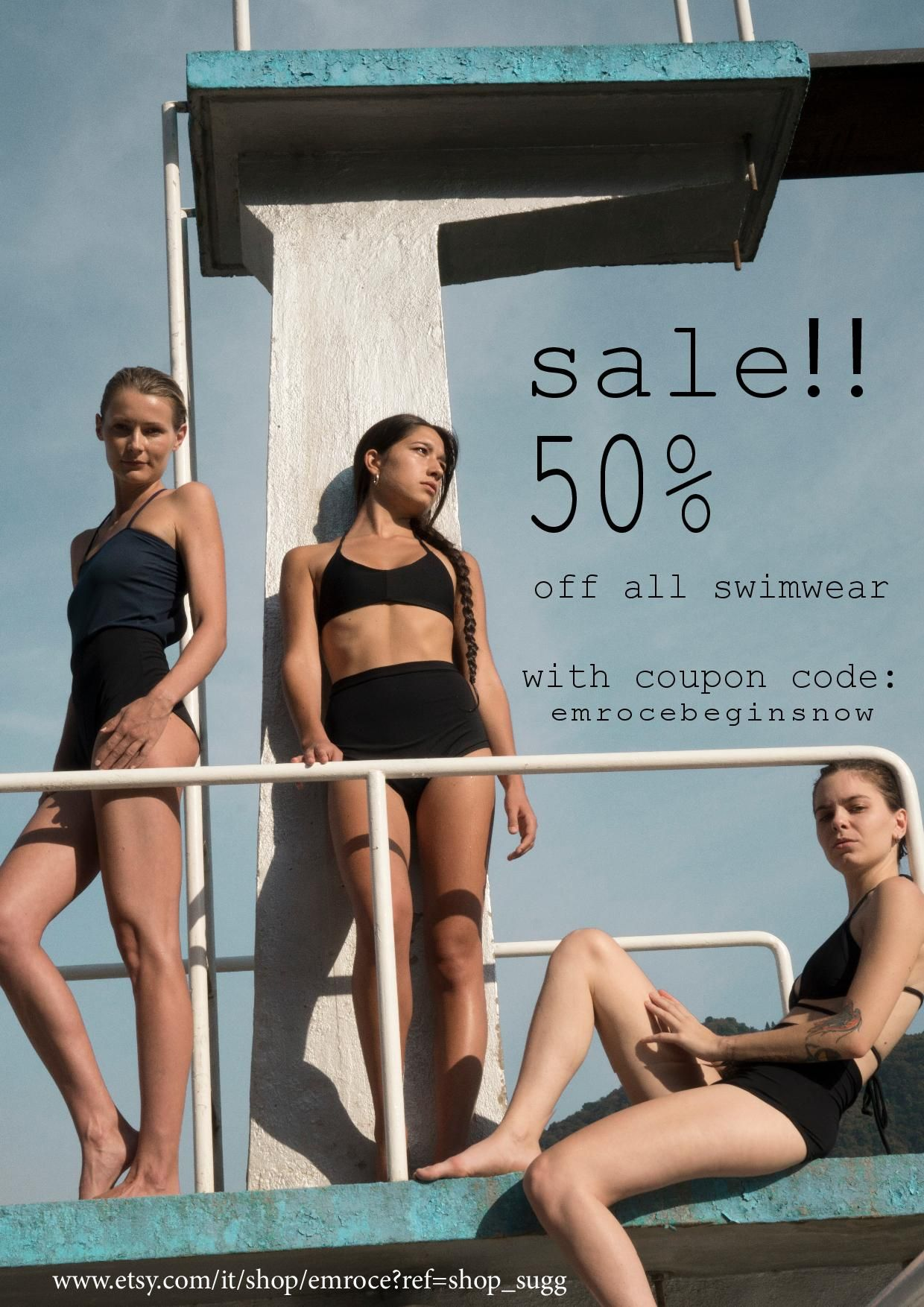 c5dec5e6f9b5b swimwear sale poster 50%off | deco del mar | Swimwear sale, Swimwear ...