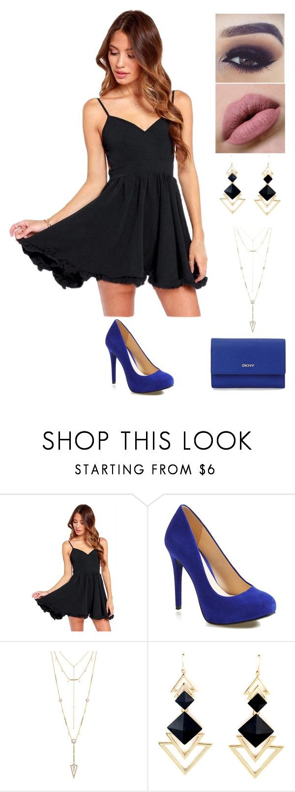 """""""Party"""" by rhay-q ❤ liked on Polyvore featuring WithChic, Jessica Simpson, House of Harlow 1960 and DKNY"""