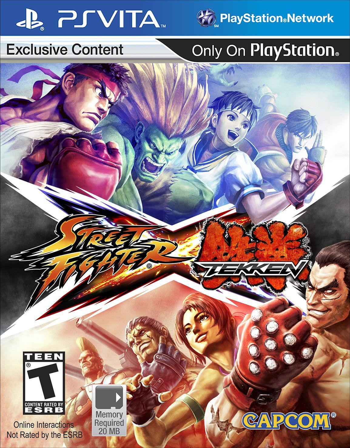Street Fighter X Tekken Vita Version Us Cover Creativity Juegos