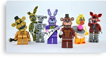 Lego Fnaf Animatronics Canvas Print By Xxdeadmanzz Ideias Para