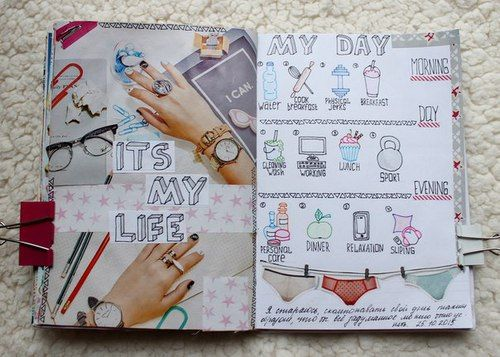 18 Chulisimas Maneras De Adornar Un Diario Art Journal Pages Planner Bullet Journal Diarios Creativos