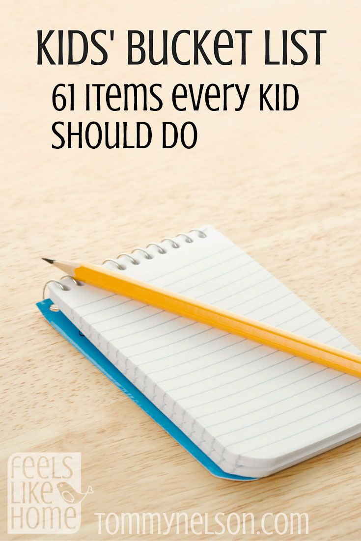 Feeling grateful to say my kids have been blessed to do so many of these on this list.  Time to make up our own list!
