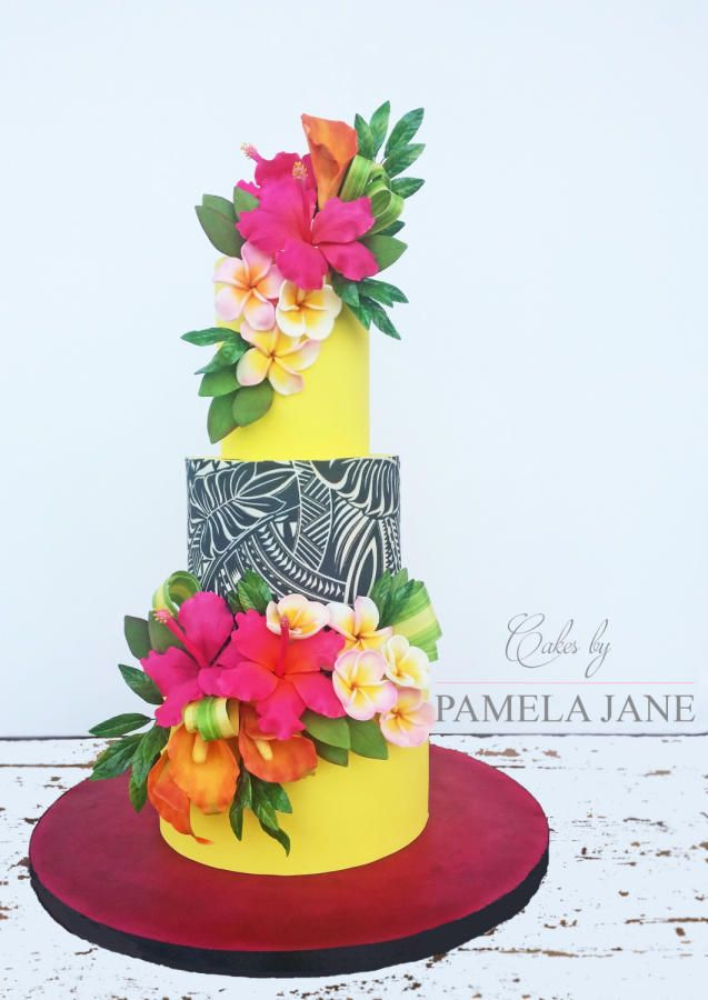 Hawaiian Summer Florals By Pamela Jane Cakes Cake Decorating