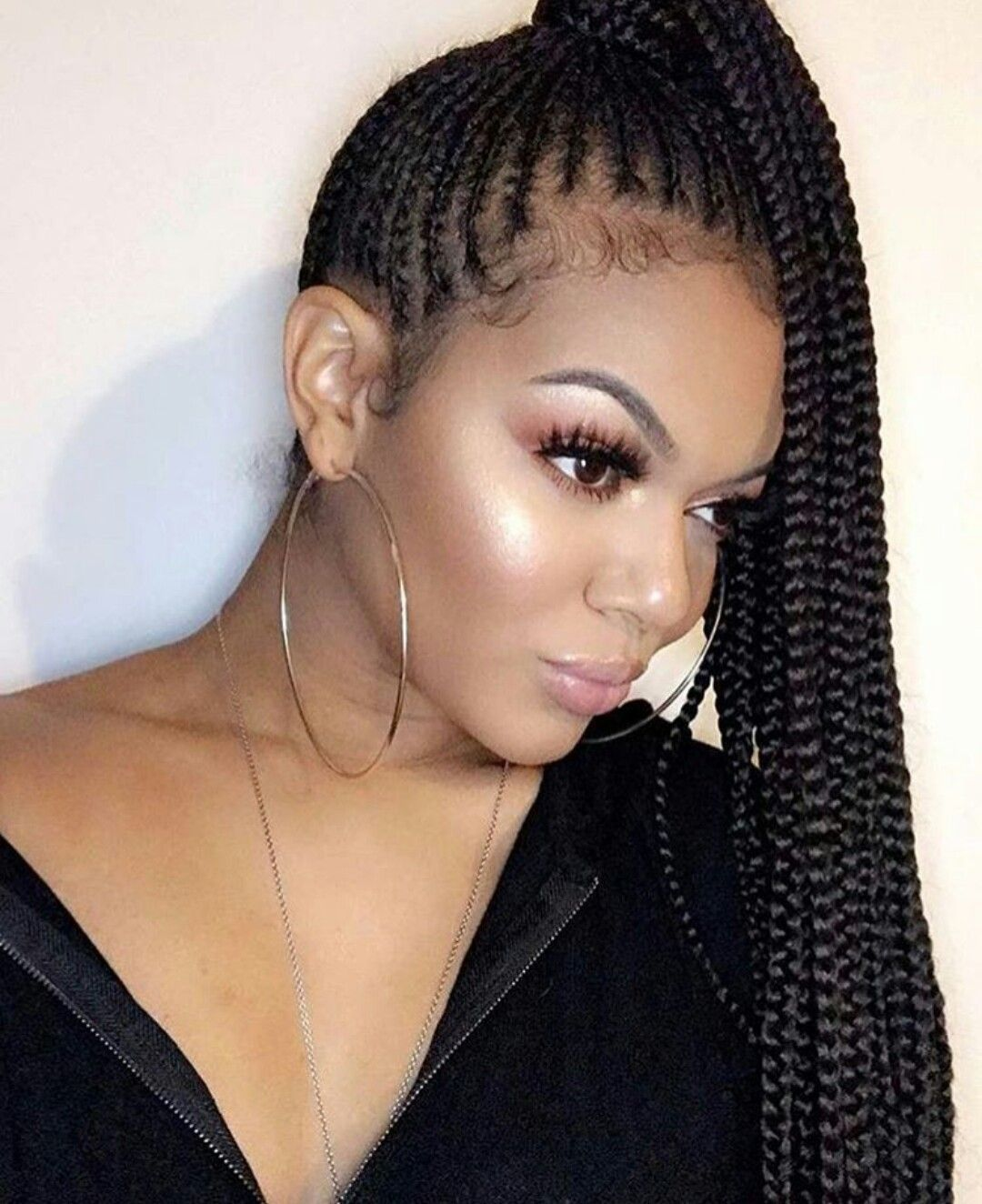 50+ Braided ponytail hairstyles for black hair ideas