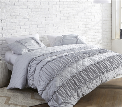 Decorative Dorm Duvet Cover Fashionable Glacier Gray Twin Xl