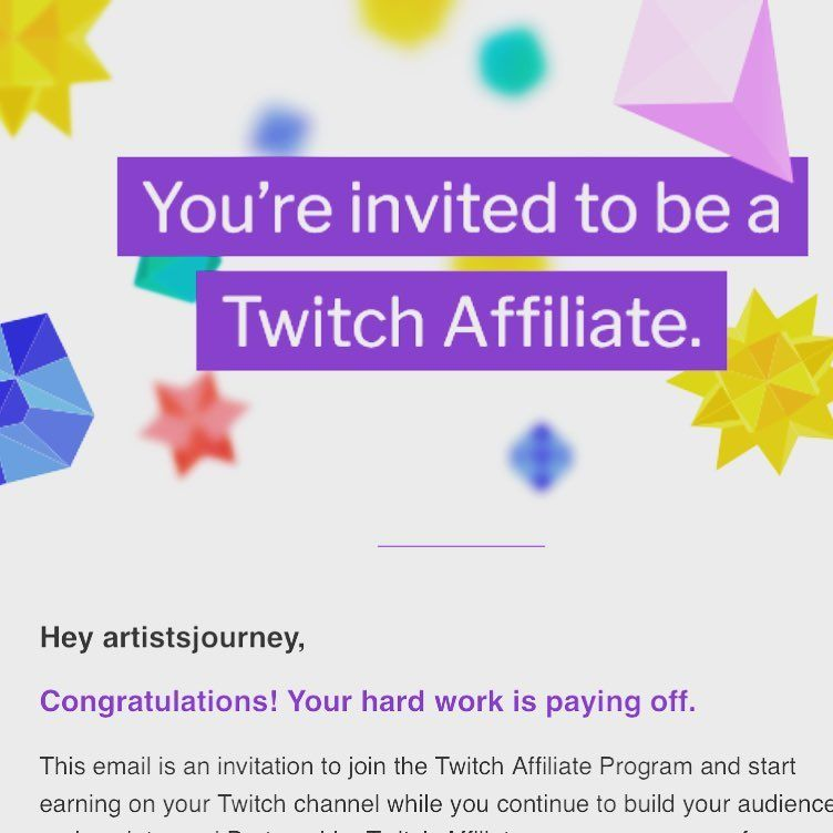 In just a month, I'm officially a twitchaffiliate