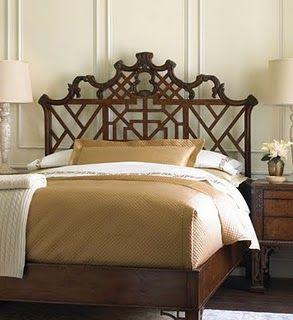 Classic, gorgeous Chippendale headboard.