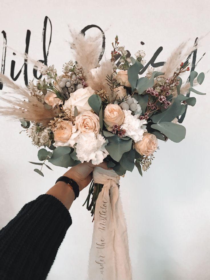 BRAUTSTRAUSS BOHO HOCHZEIT // BLUMEN #flowerbouquetwedding