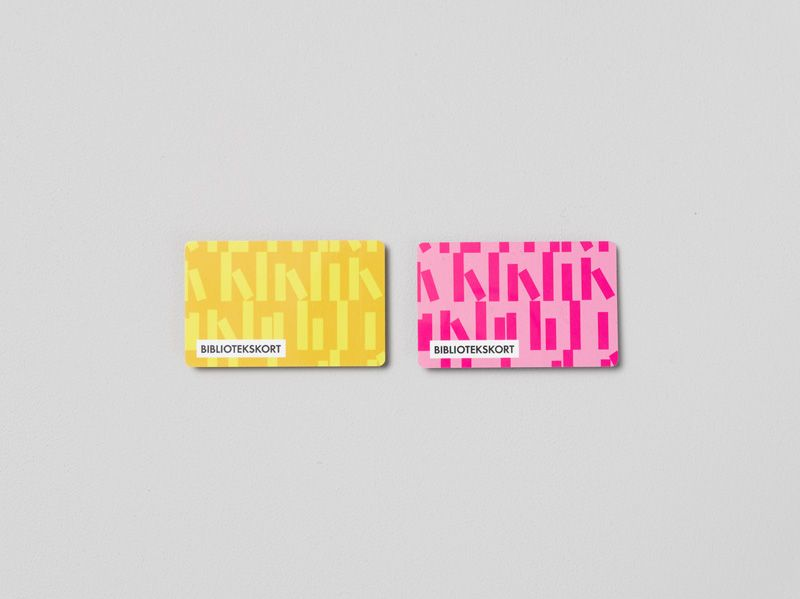 Library card with graphic pattern for Gothenburg City Library