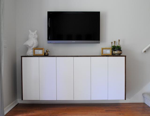 buffet suspendu fabriqu avec des placards de cuisine ikea acheter pinterest mobilier de. Black Bedroom Furniture Sets. Home Design Ideas