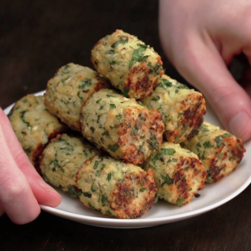 These veggie tots are healthy ways to snack on game day food veggie tots 4 ways by tasty forumfinder Gallery