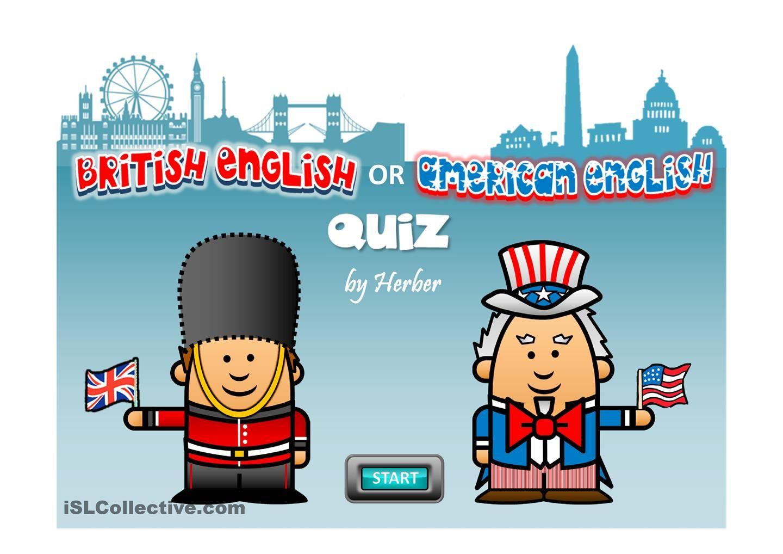 Esl Worksheet About American British English Quiz Esl