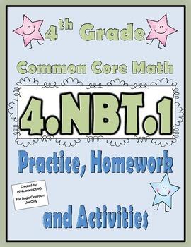 4nbt1 practice homework and activities 4th grade common core 4nbt1 practice homework and activities 4th grade common core math fandeluxe Gallery