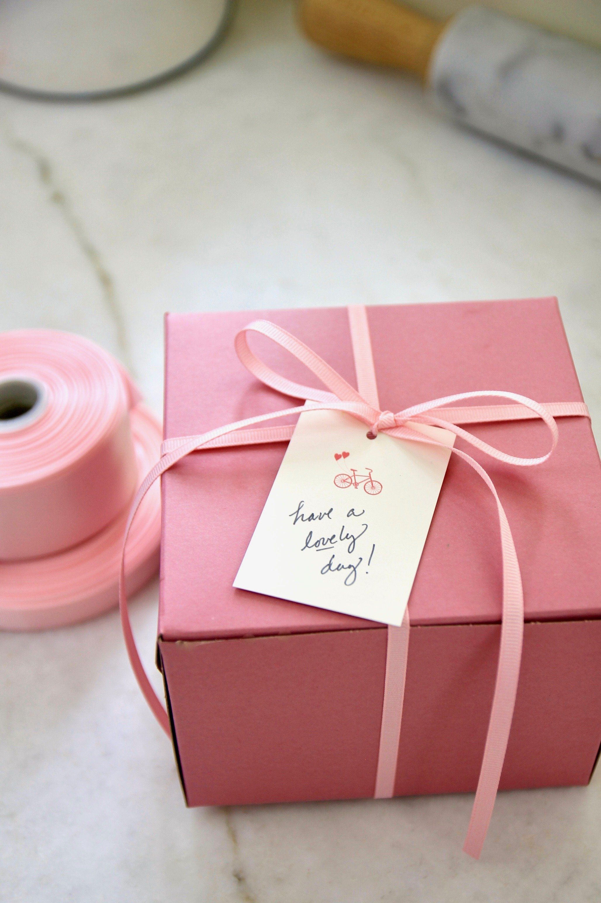 Medium Bakery Boxes, Pink - Set of 5 | Small bakery and Bakeries