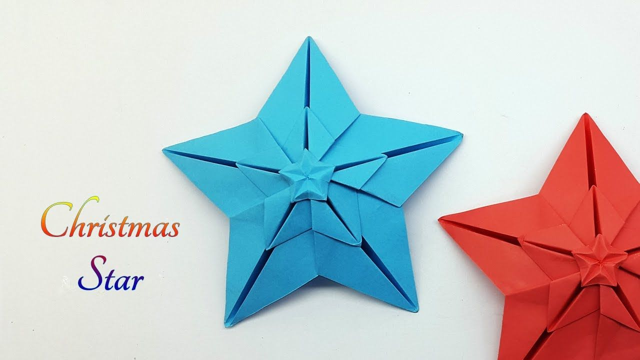 Paper Star Making For Christmas Decoration Origami Diagrams