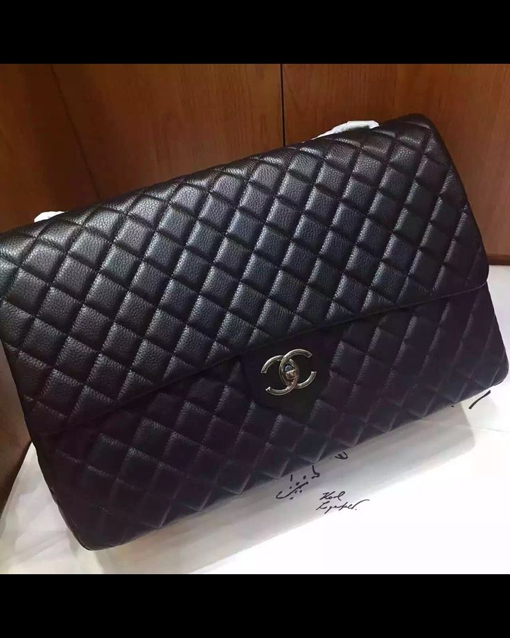 Chanel Xxl Classic Flap Bag In Black Leather Classic Flap Bag Flap Bag Chain Shoulder Bag