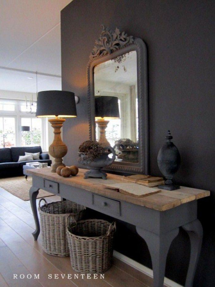 sch nes dressoir f r ein wohnzimmer gibt eine warme. Black Bedroom Furniture Sets. Home Design Ideas