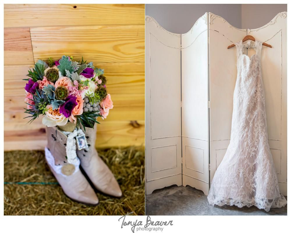 Wedding dresses with cowgirl boots  Keeler Property Weddings Rustic Weddings  Lace wedding dress