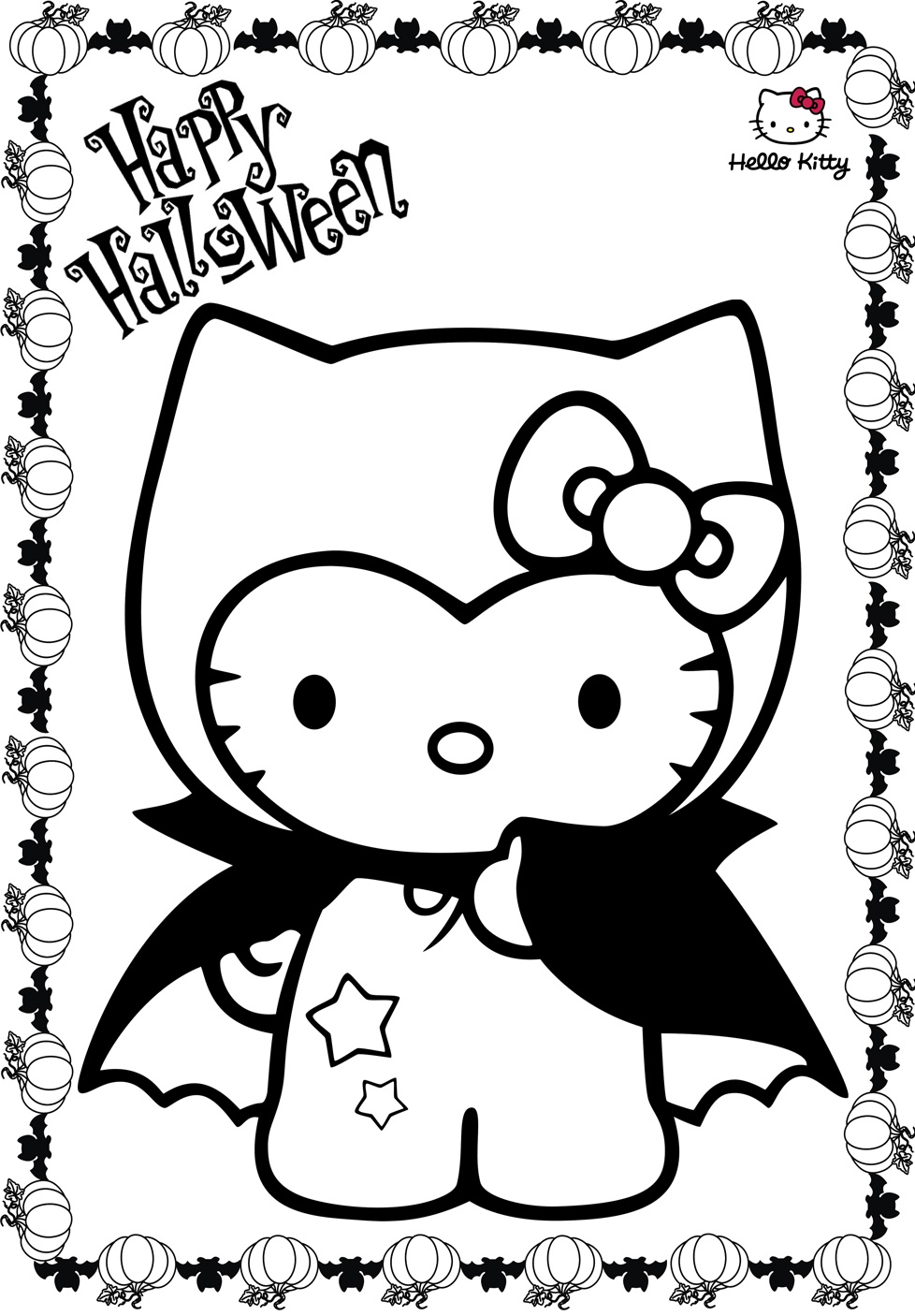 Hello Kitty Halloween Coloring Pages Printable Hello Kitty Coloring Hello Kitty Colouring Pages Kitty Coloring