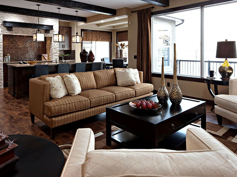 Great Brown And Beige Living Room Design