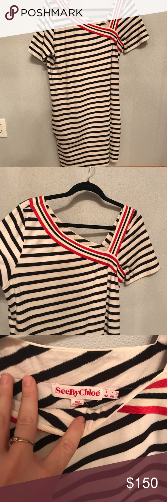 See by Chloe dress See by Chloe causal dress. Super funky asymmetrical neckline. Black stripe with red striped contrast. EUC. See By Chloe Dresses #seebychloe See by Chloe dress See by Chloe causal dress. Super funky asymmetrical neckline. Black stripe with red striped contrast. EUC. See By Chloe Dresses #seebychloe See by Chloe dress See by Chloe causal dress. Super funky asymmetrical neckline. Black stripe with red striped contrast. EUC. See By Chloe Dresses #seebychloe See by Chloe dress See #seebychloe