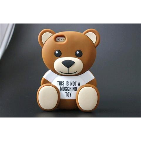 345a1c8fec 立体ボリューム感がある熊柄モスキーノMoschino アイフォン8シリコンカバー 7/7plusケース 柔軟  ヒグママルチカラーデザインのブランドiphone7s/7splusケース 可愛い ...