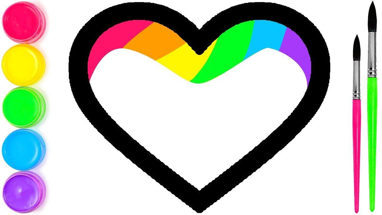 Lisa Rainbow Heart Menggambar Dan Mewarnai Untuk Anak Anak With