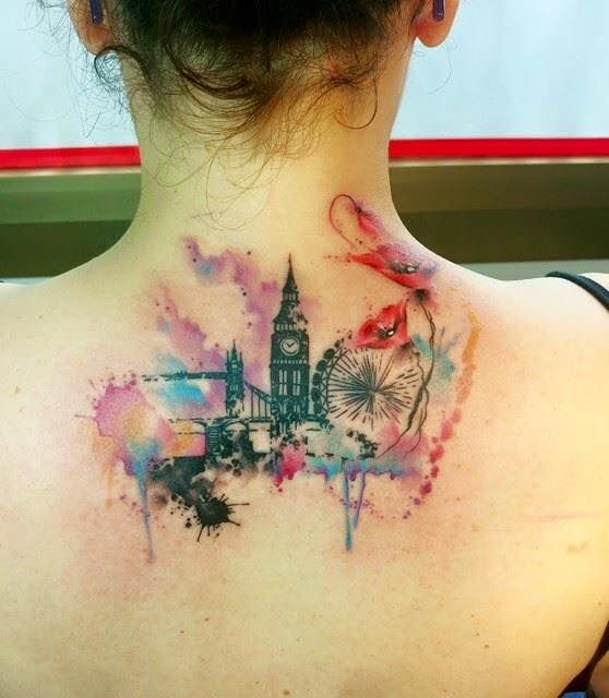 Realisme Avantgarde Carolina Avalle Watercolor London Tattoo